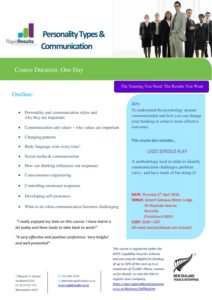 Personality Types & Communication Apr 2018 - Sales And