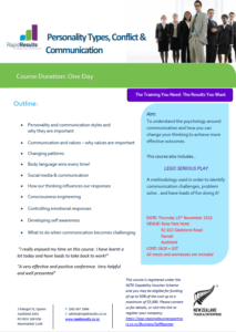 Personality Types, Conflict & Communication - Sales And